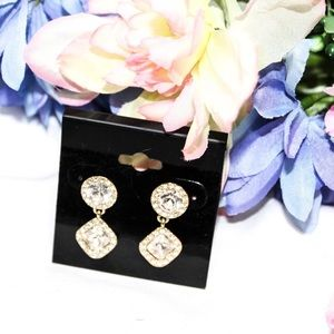 Kate Spade Gold Tone Rhinestone Earrings